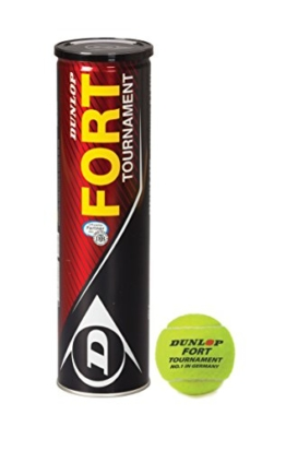 Dunlop DTB Turnierbälle Fort Tournament 4er, Gelb, One Size, 601202 -