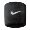 Nike 9380/4 Swoosh Wristbands Schweißband, Black/White, One Size -